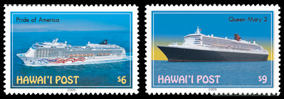 Hawaii Cruise Ships Stamps
